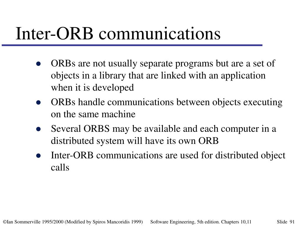 Inter-ORB communications