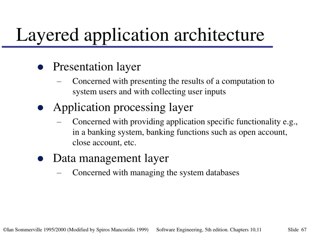 Layered application architecture