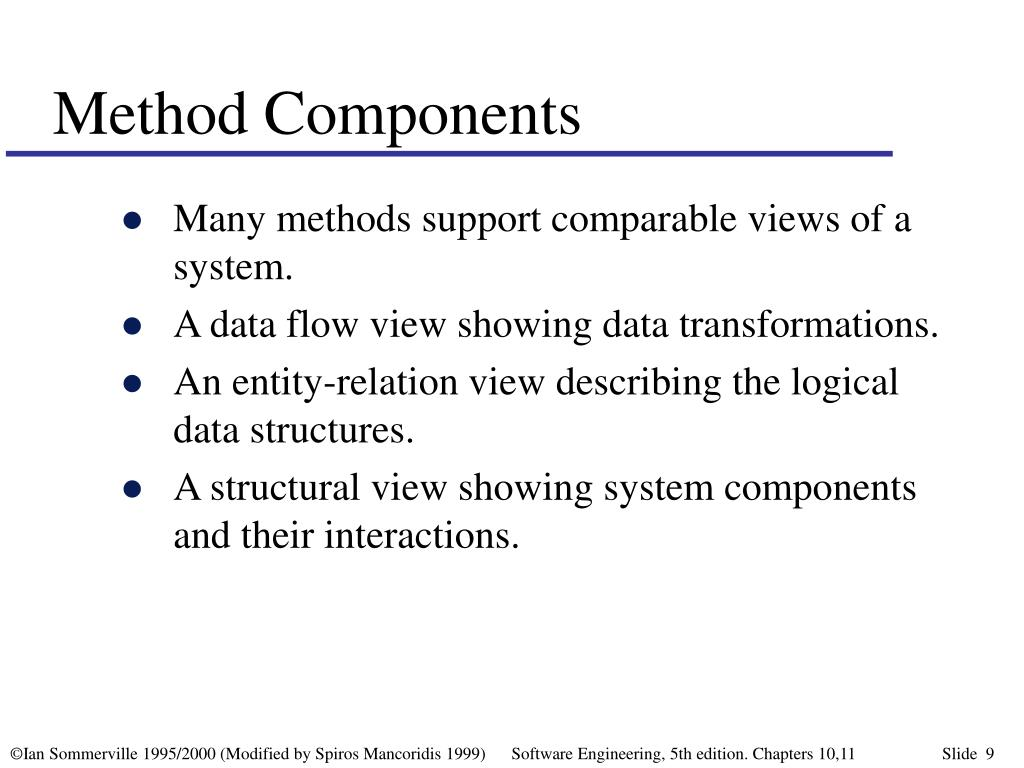 Method Components