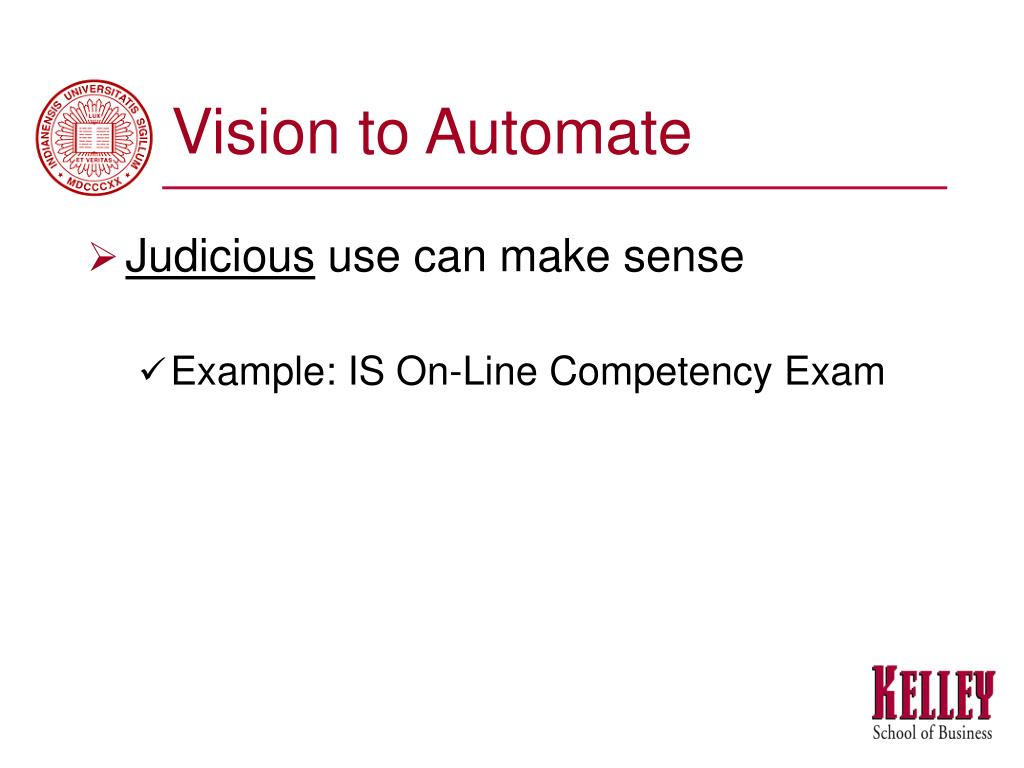 Vision to Automate