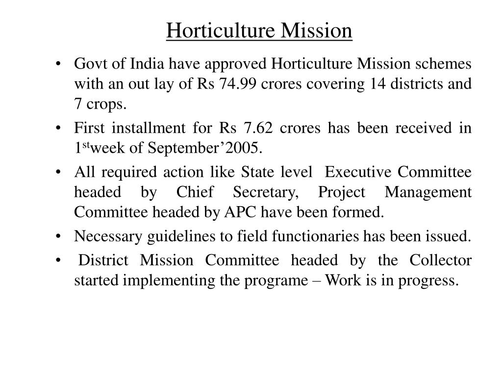 Horticulture Mission