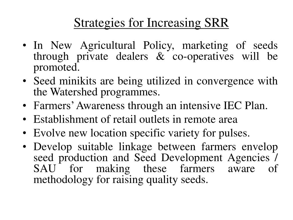 Strategies for Increasing SRR