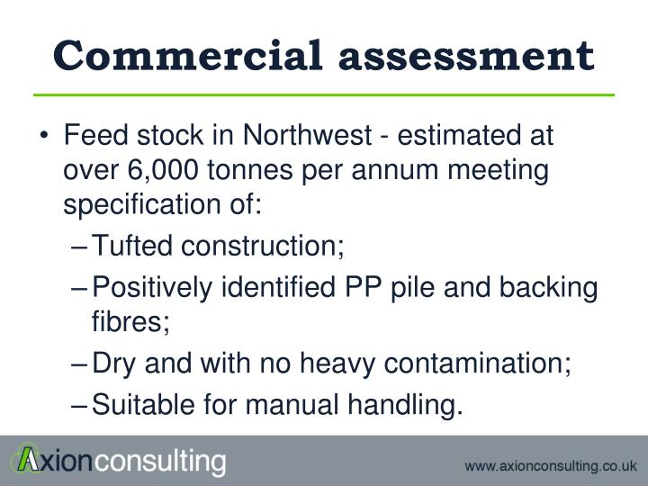 Commercial assessment