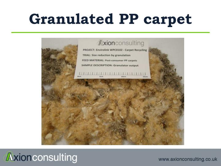 Granulated PP carpet