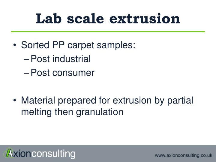 Lab scale extrusion