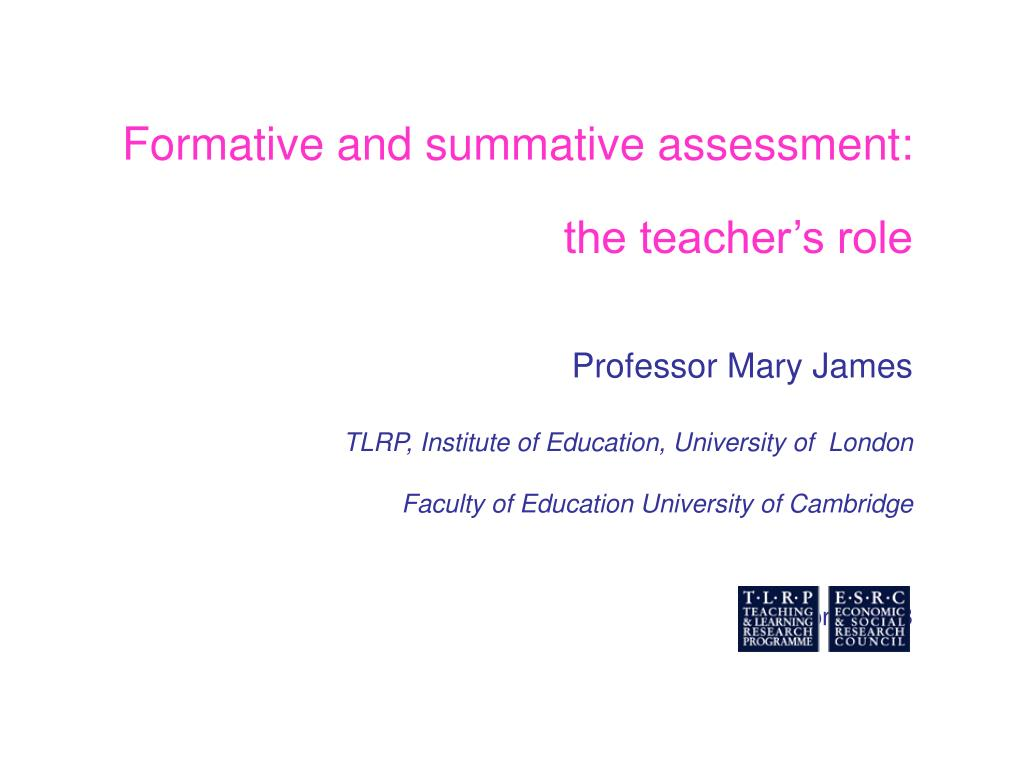 Formative and summative assessment: