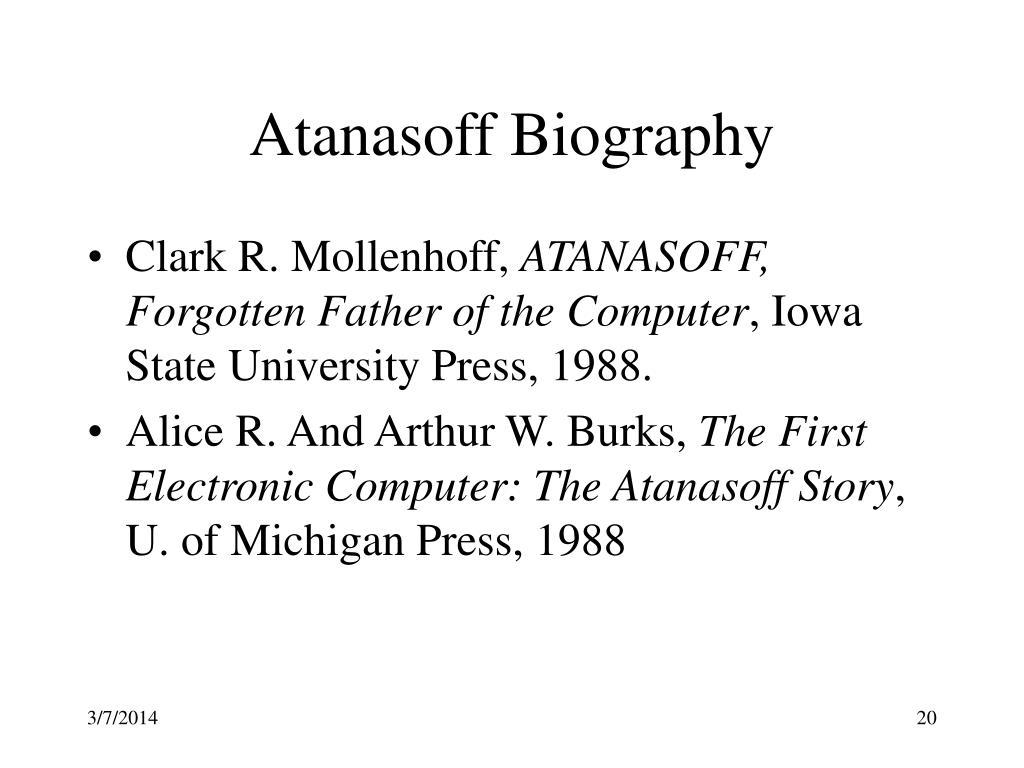 Atanasoff Biography