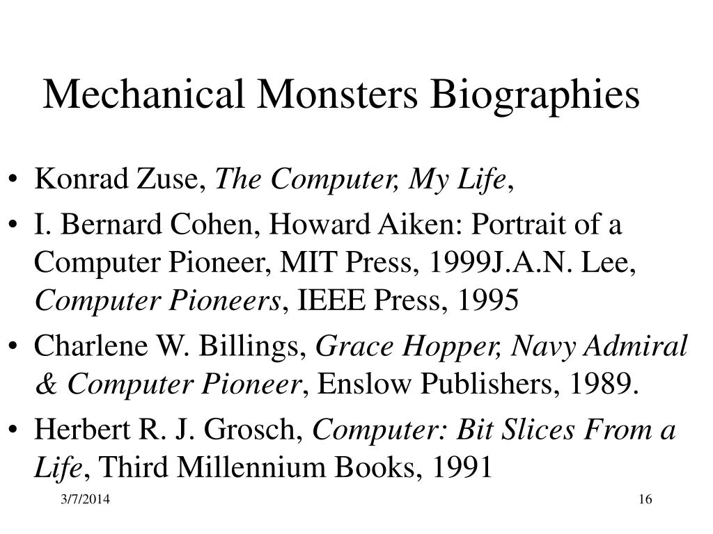 Mechanical Monsters Biographies