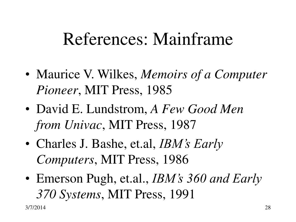 References: Mainframe