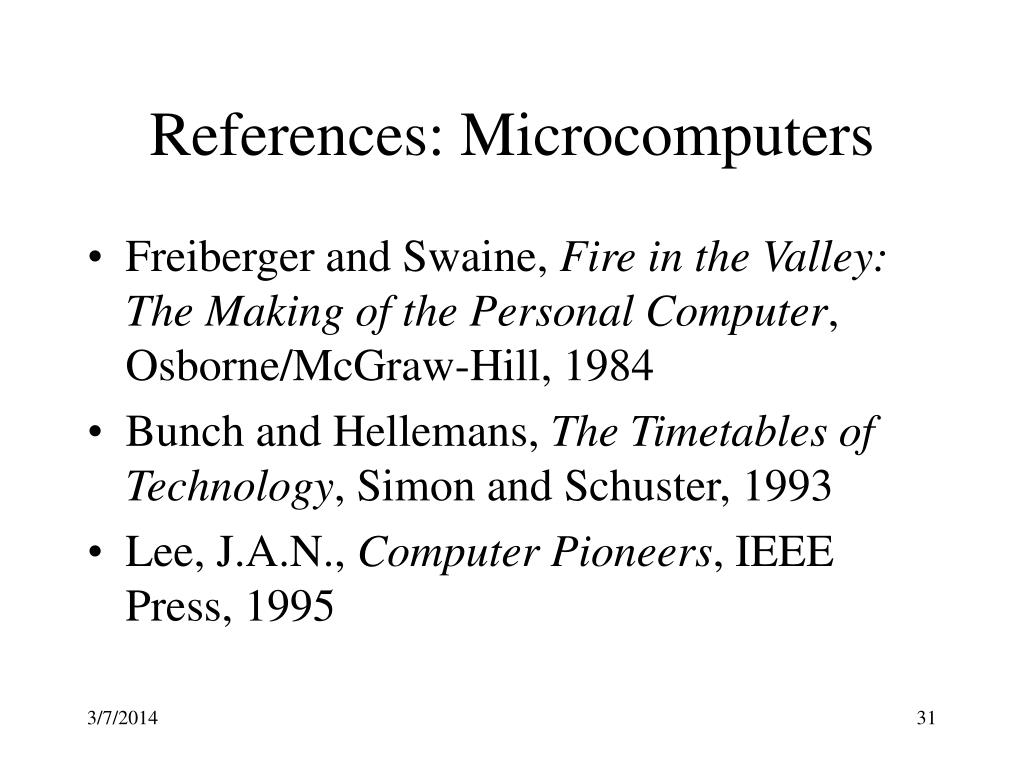References: Microcomputers