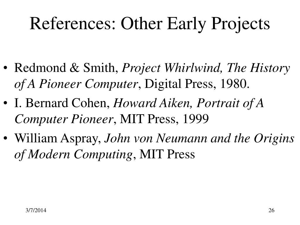 References: Other Early Projects