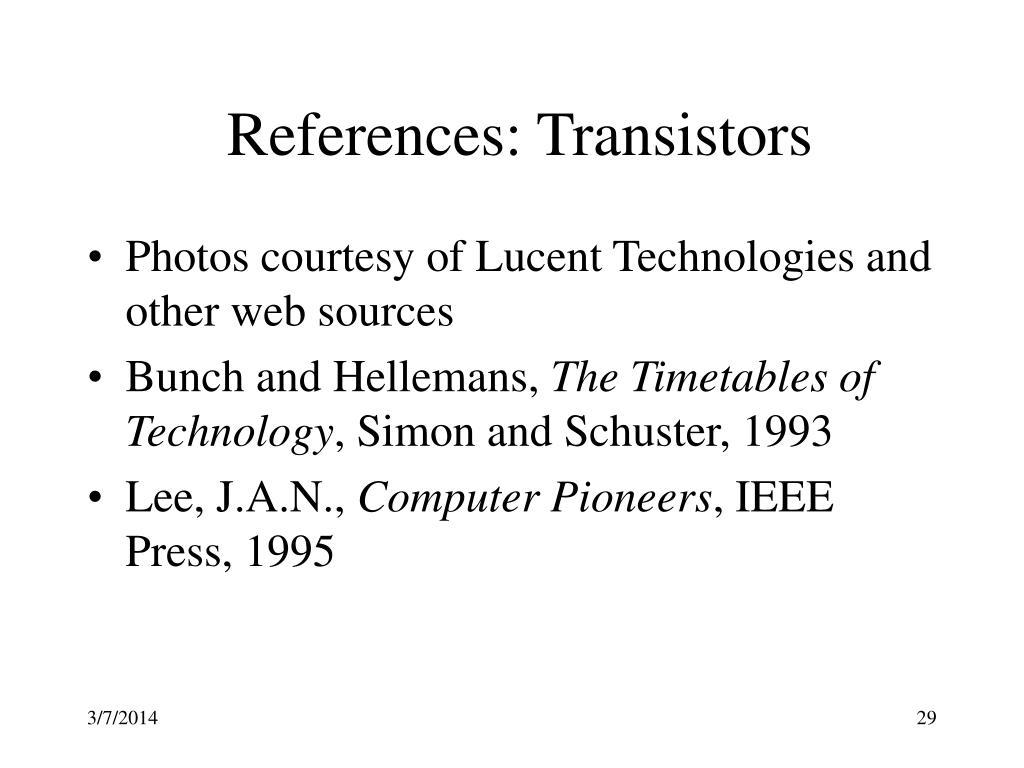 References: Transistors
