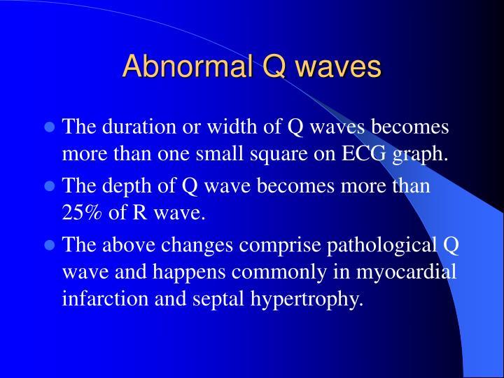 Abnormal Q waves