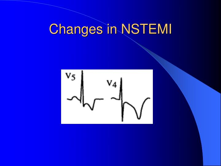 Changes in NSTEMI