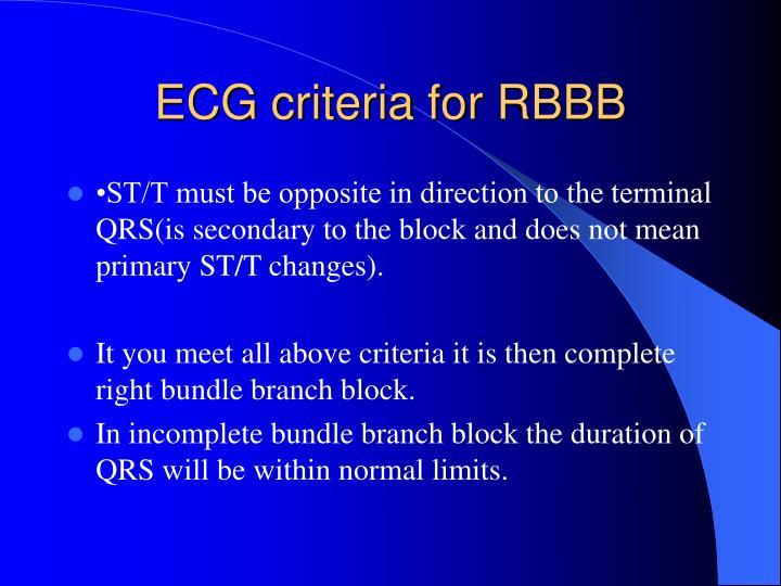 ECG criteria for RBBB