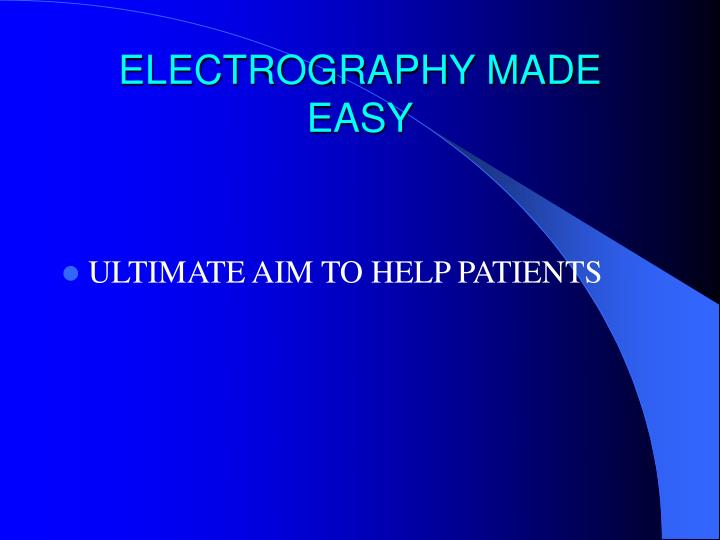 ELECTROGRAPHY MADE EASY