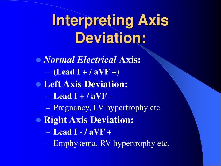Interpreting Axis Deviation: