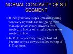 normal concavity of s t segment