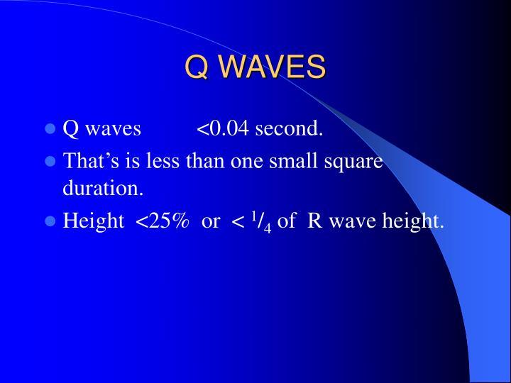 Q WAVES