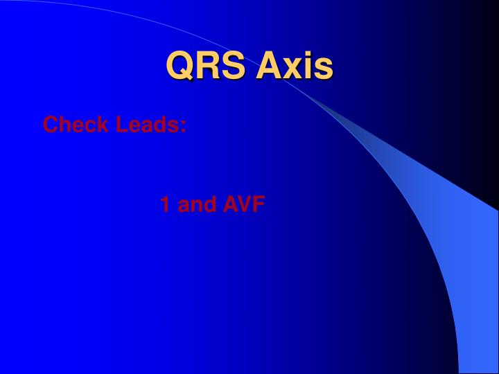 QRS Axis