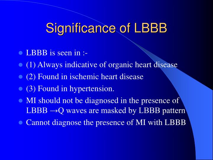 Significance of LBBB