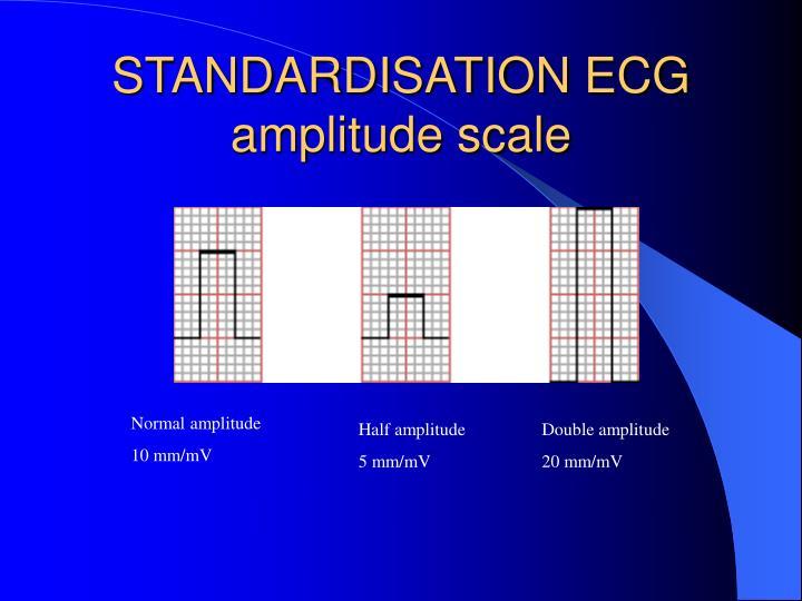 STANDARDISATION ECG amplitude scale