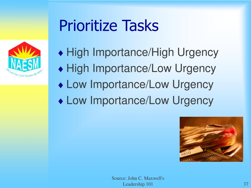 learn how to prioritize tasks
