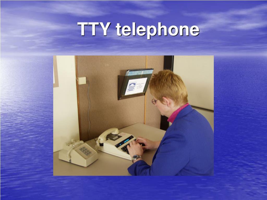 TTY telephone