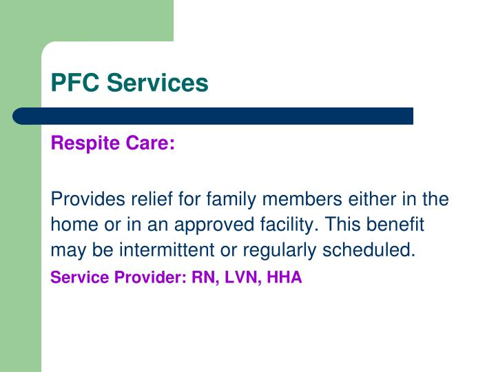 PFC Services