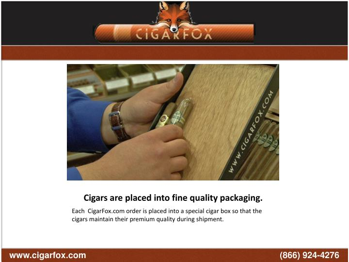 Each sampler is carefully packaged in our custom CigarFox travel case to insure the safety of your cigars. Each CigarFox Travel Case is packaged with a humidification device to insure your cigars stay perfect during the shipping process!