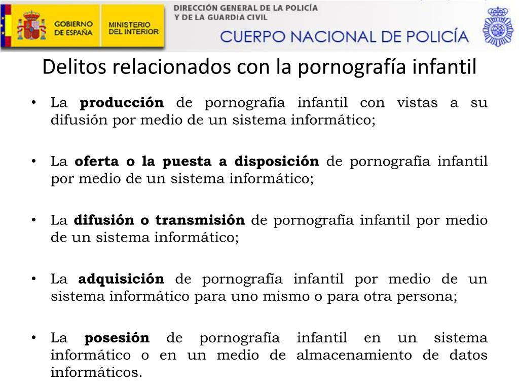 Delitos relacionados con la pornografía infantil