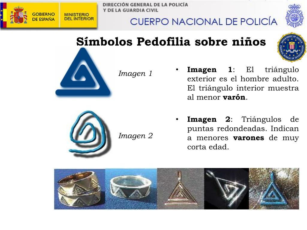 Símbolos Pedofilia sobre niños
