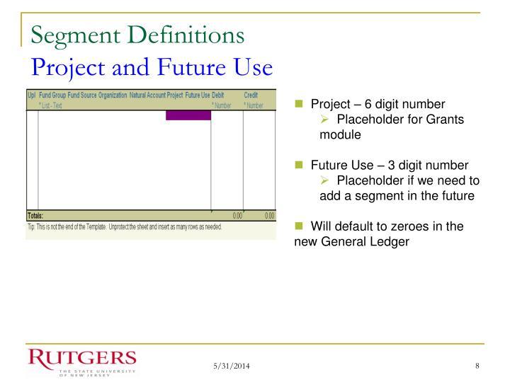 Segment Definitions