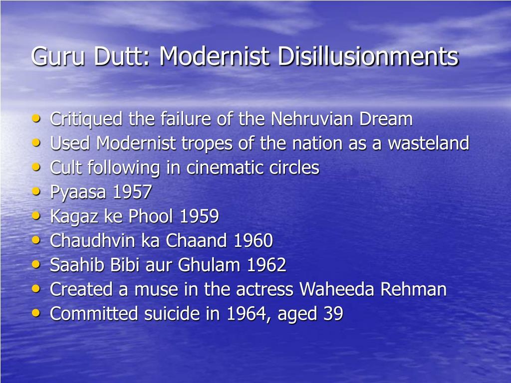 Guru Dutt: Modernist Disillusionments
