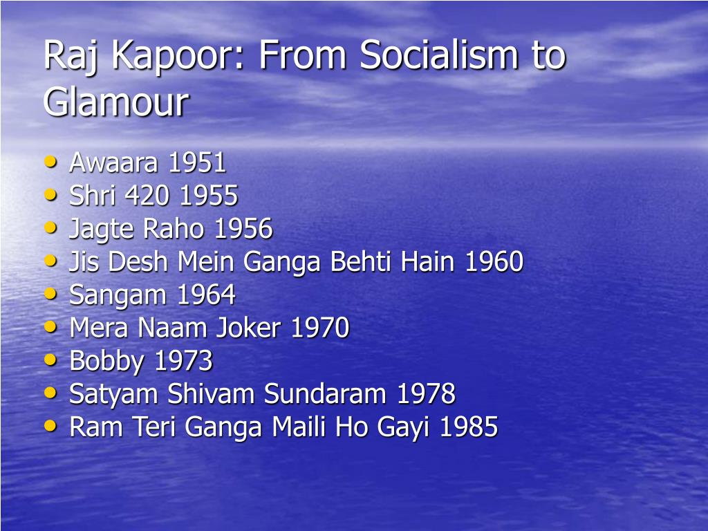 Raj Kapoor: From Socialism to Glamour