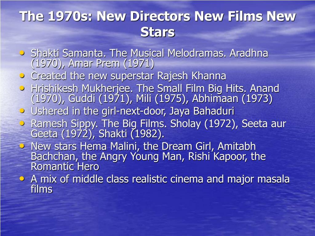 The 1970s: New Directors New Films New Stars