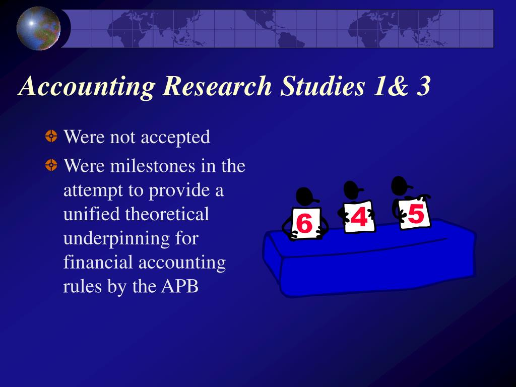Accounting Research Studies 1& 3