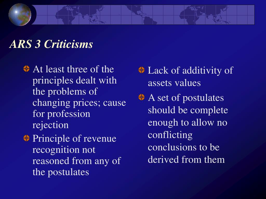 At least three of the principles dealt with the problems of changing prices; cause for profession rejection