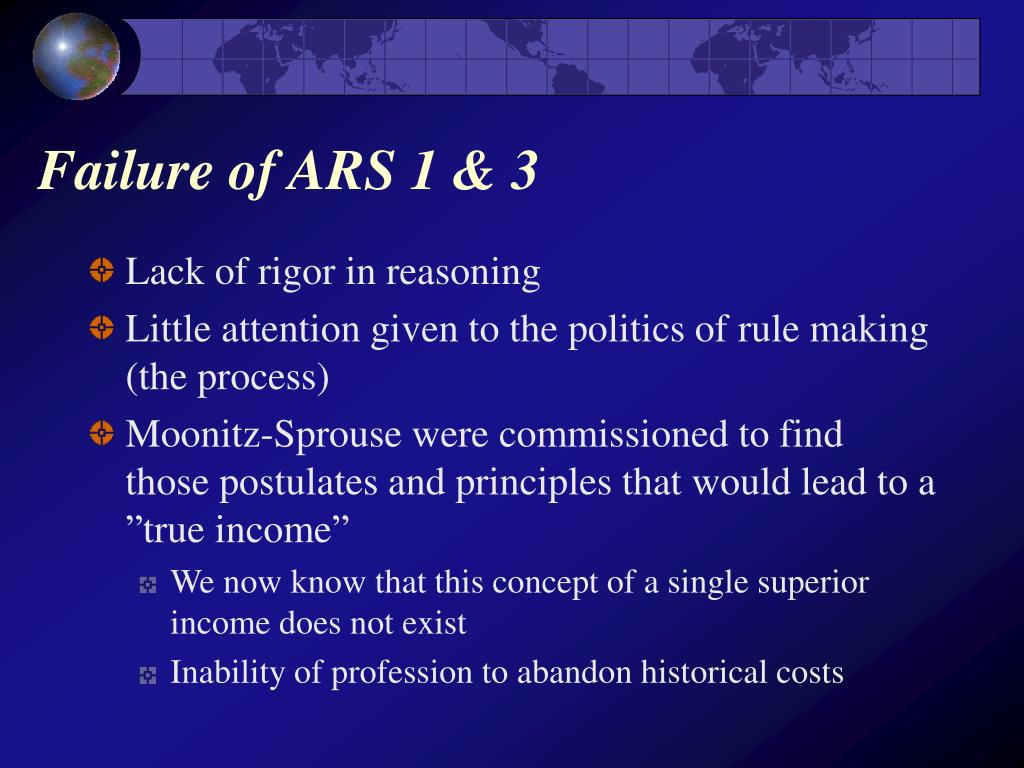 Failure of ARS 1 & 3
