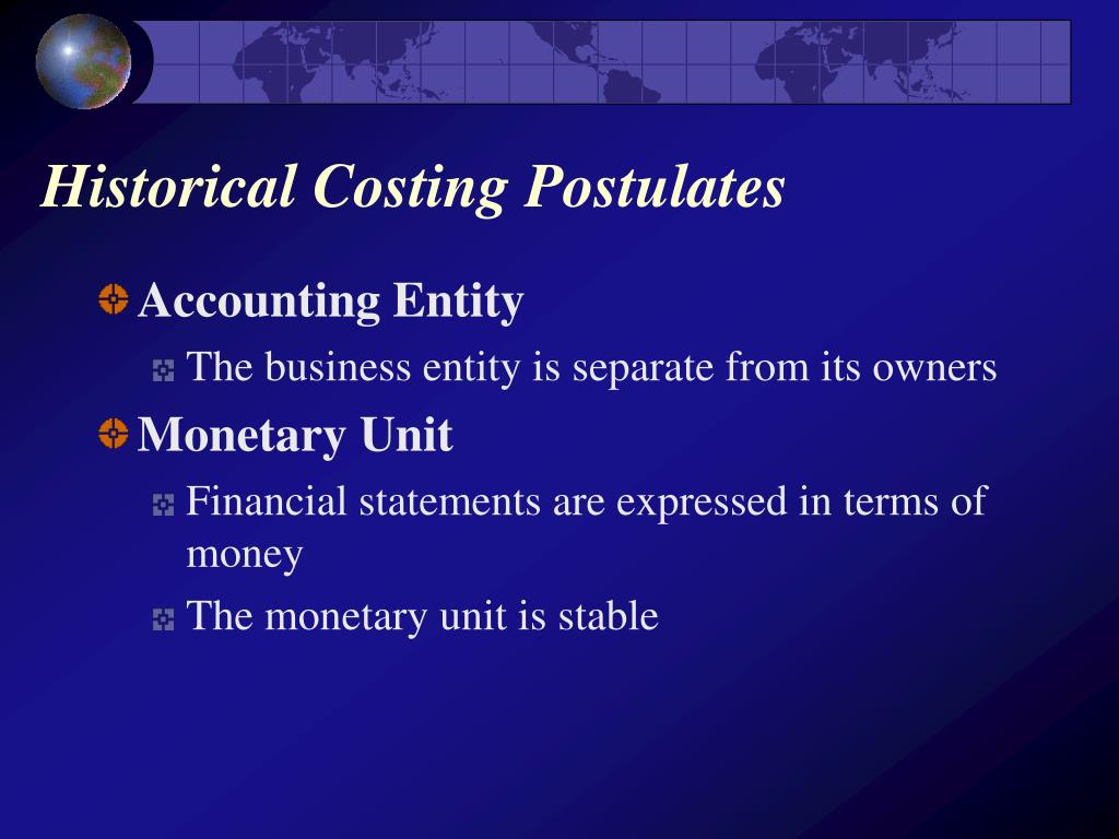 Historical Costing Postulates