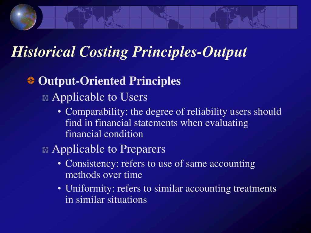 Historical Costing Principles-Output