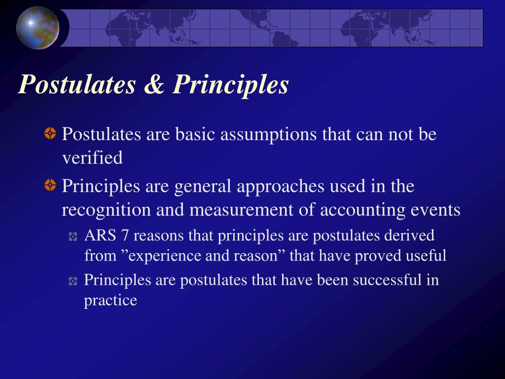 Postulates & Principles