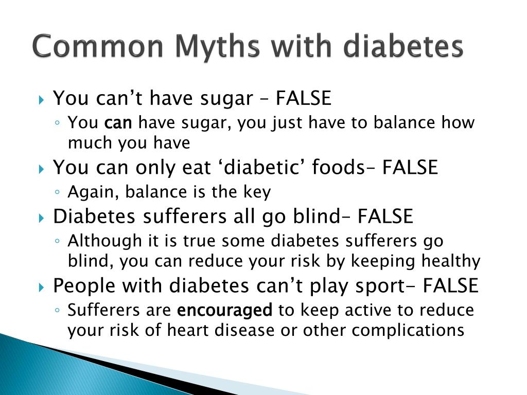 Common Myths with diabetes