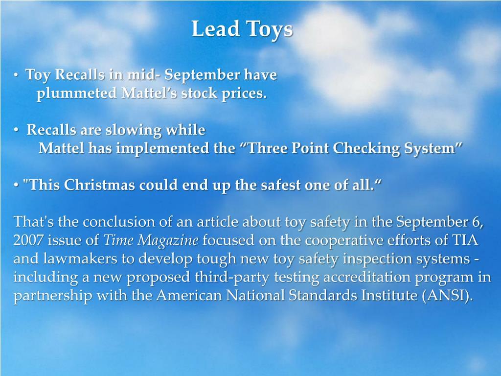 Lead Toys
