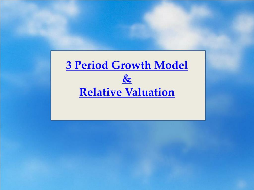 3 Period Growth Model