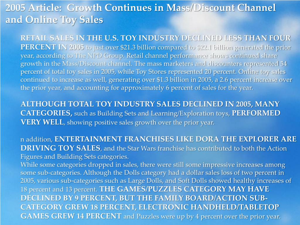 2005 Article:  Growth Continues in Mass/Discount Channel