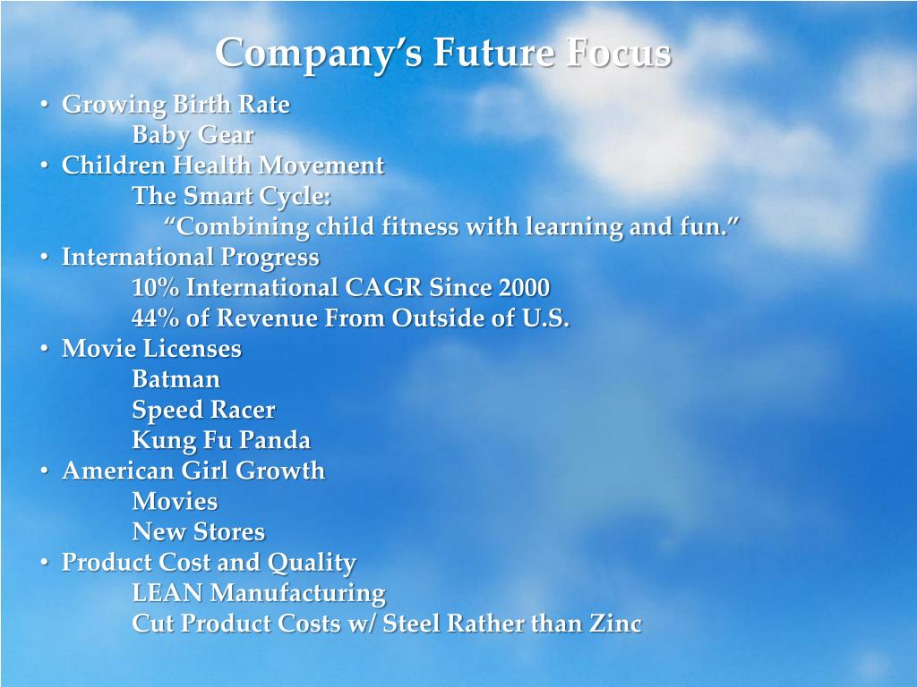 Company's Future Focus