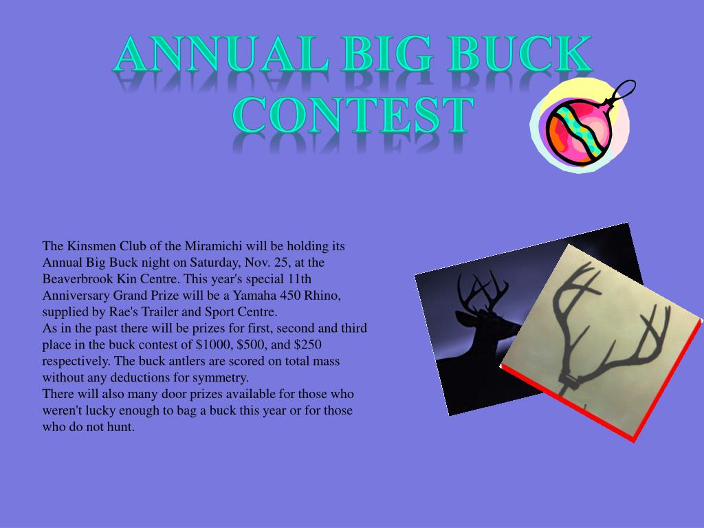 Annual Big Buck Contest