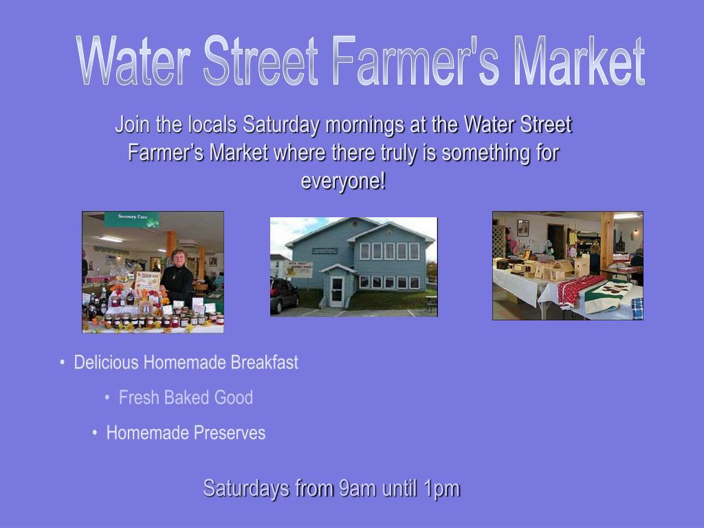 Water Street Farmer's Market
