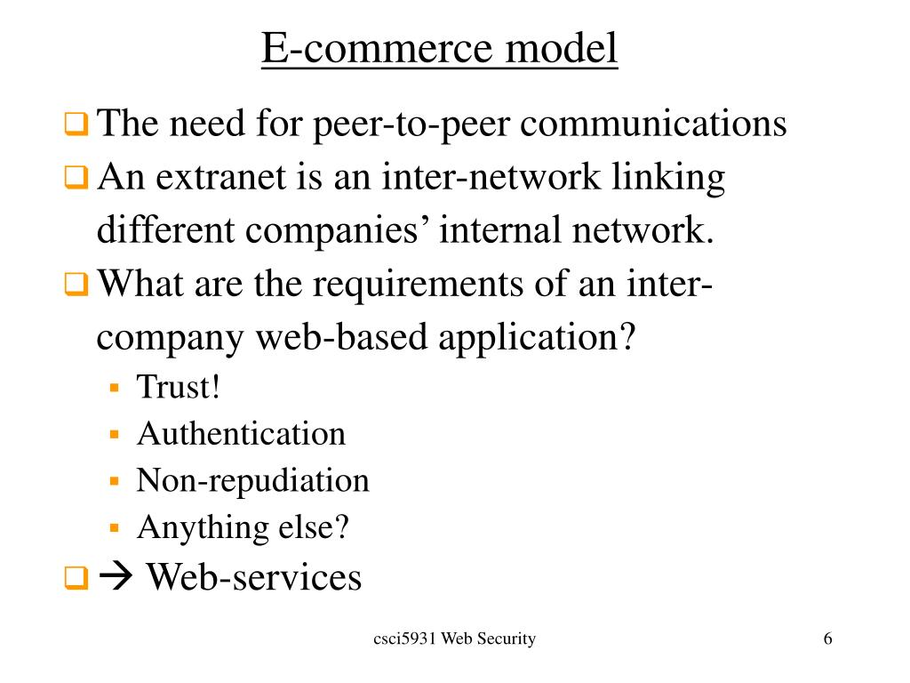 E-commerce model